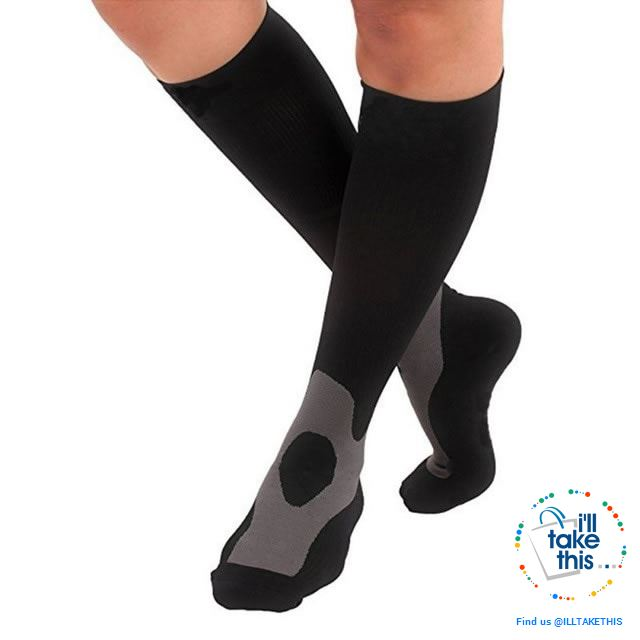Men or Women Breathable Compression Socks Comfortable Relief Soft, Leg Support Stretch Sock - I'LL TAKE THIS