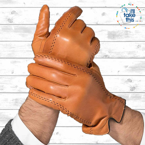 Genuine Leather soft Goatskin Gloves, fully lined with Touch Screen sensitivity options - I'LL TAKE THIS