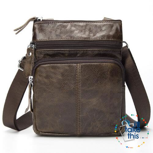 ... Genuine Leather - Small Messenger Bag with Shoulder Stap Cross-body.  Tap to expand 211793c168f19