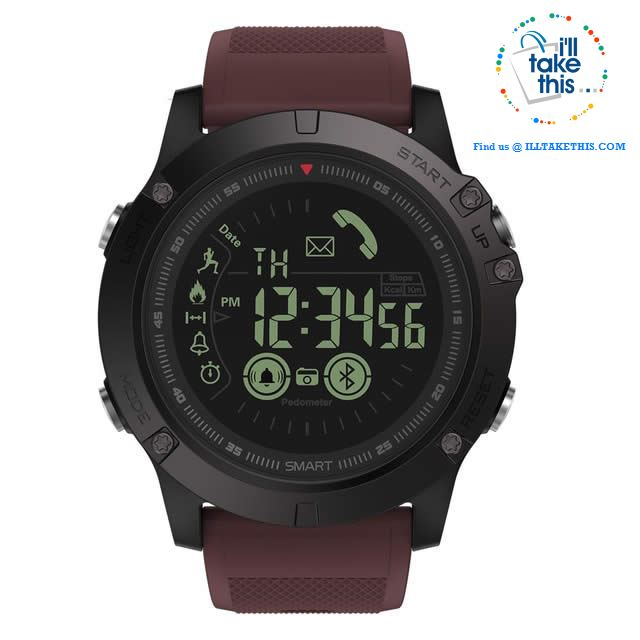 Men's Rugged Smartwatch All-Terrain Sports Watch for IOS and Android - I'LL TAKE THIS