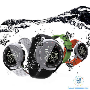 Men's Sports Smartwatch - Water-resistant, pedometers, message, reminder, Bluetooth for iOS/Android
