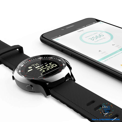 Image of Men's Sports Smartwatch - Water-resistant, pedometers, message, reminder, Bluetooth for iOS/Android - I'LL TAKE THIS