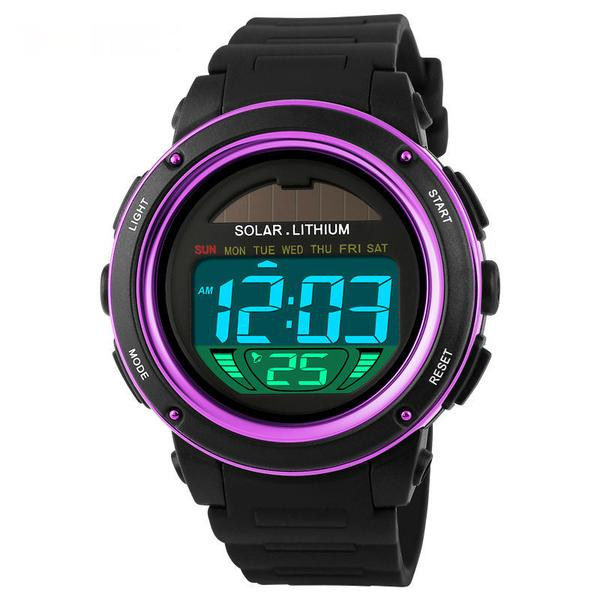 Gent's Solar energy Electronic Sports Watch with LED Digital Quartz Display - I'LL TAKE THIS