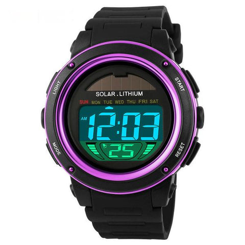 Image of Gent's Solar energy Electronic Sports Watch with LED Digital Quartz Display - I'LL TAKE THIS