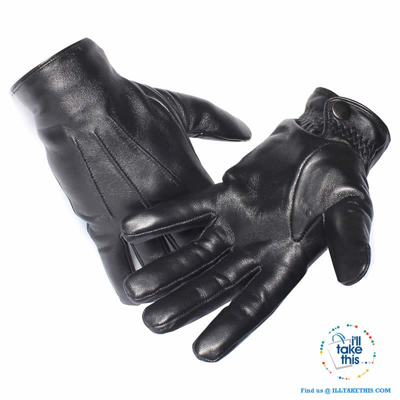 Touch screen Soft Sheepskin Leather Gloves in Black - I'LL TAKE THIS
