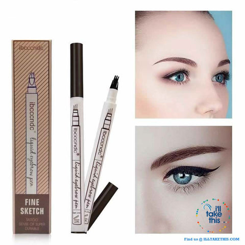 Image of Microblading Eyebrow Tattoo Pen Fine Sketch Liquid Eyebrow Pen, Water, and  Smudge-proof - 3 Colors - I'LL TAKE THIS