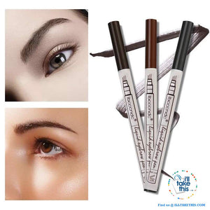 Microblading Eyebrow Tattoo Pen Fine Sketch Liquid Eyebrow Pen, Water, and  Smudge-proof - 3 Colors