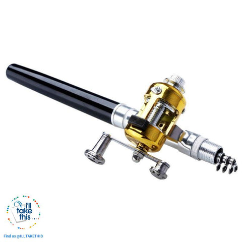 Image of Mini Portable Aluminium Alloy Telescopic Pocket Pen Shape Fishing Rod and Reel - I'LL TAKE THIS