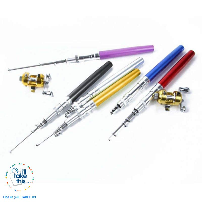Mini Portable Aluminium Alloy Telescopic Pocket Pen Shape Fishing Rod and Reel - I'LL TAKE THIS