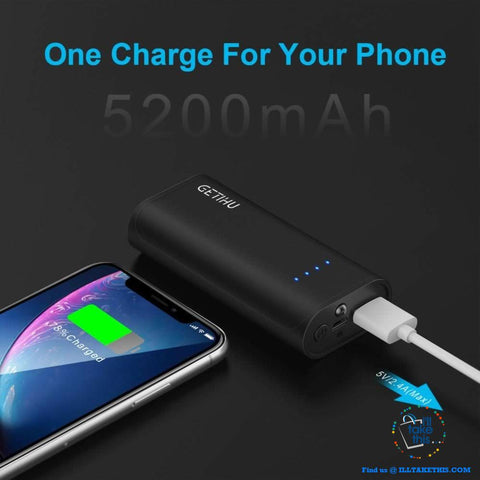 Image of Mini Power Bank 2.4A USB Portable Charger Powerbank For iPhone XS X Android Phones - I'LL TAKE THIS