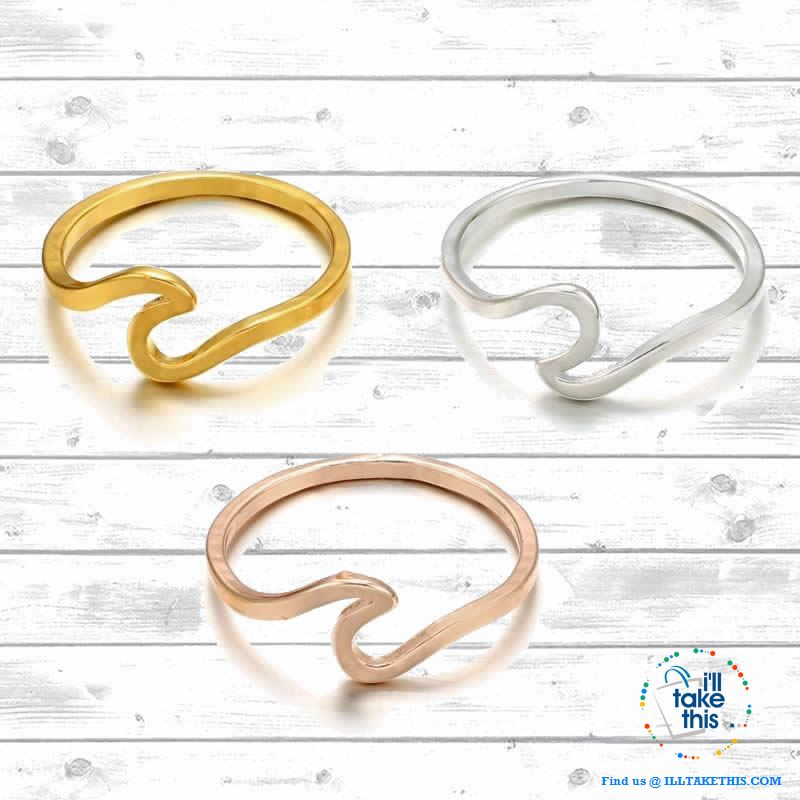 Minimalist Wave Rings for Women, Midi Ring Knuckle in Rose Gold, Gold or Silver - I'LL TAKE THIS