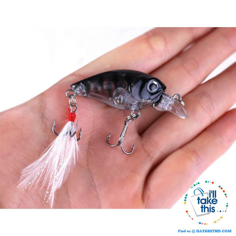 Image of Pack of 5 Crankbait Mini Chubby Fishing Lures  / 45mm 3.4g 0-0.3M - I'LL TAKE THIS