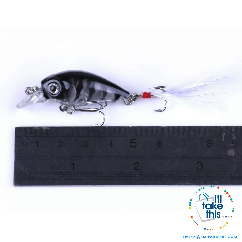 Pack of 5 Crankbait Mini Chubby Fishing Lures  / 45mm 3.4g 0-0.3M - I'LL TAKE THIS