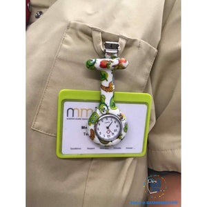 Pocket Watch Nurse Watch Fob Hanging Medical style, Silicone Stainless Round Dial Quartz Fob watch