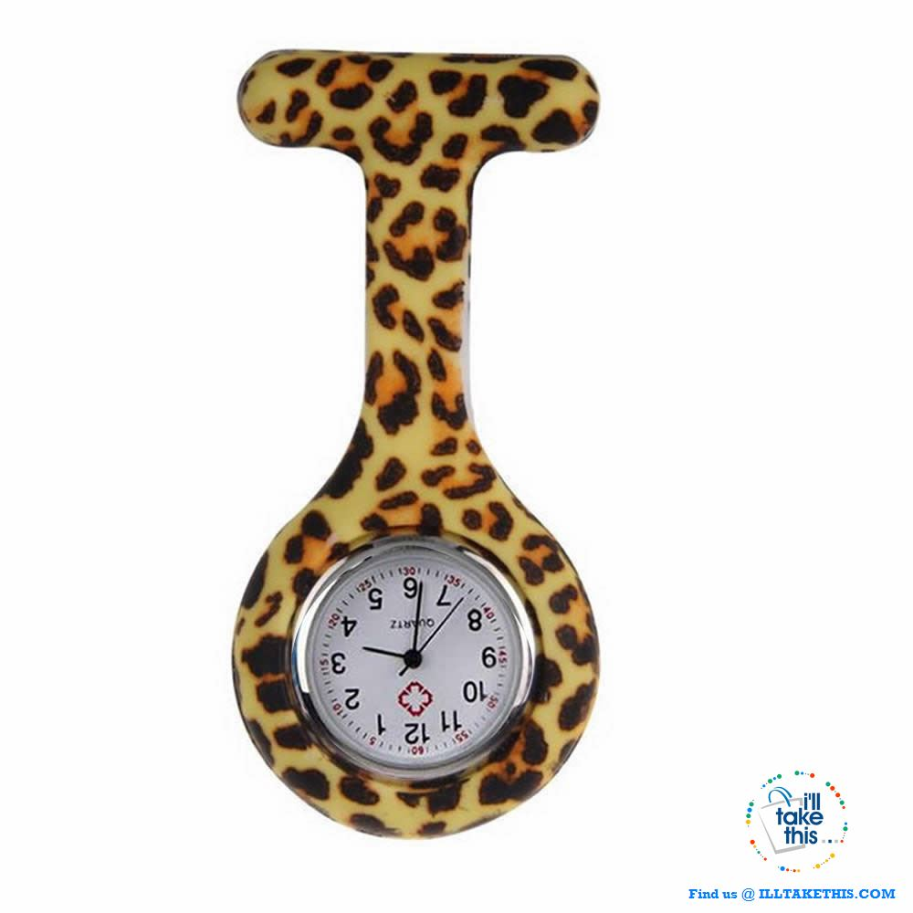 Pocket Watch Nurse Watch Fob Hanging Medical style, Silicone Stainless Round Dial Quartz Fob watch - I'LL TAKE THIS