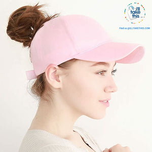 Ponytail Baseball Cap for Women of All ages, one Size - 7 color options