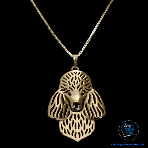 Image of Super Cute Poodle Dog Pendant in Rose Gold, Gold or Silver plating with Bonus Necklace - I'LL TAKE THIS