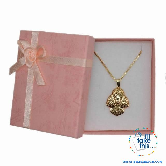 Super Cute Poodle Dog Pendant in Rose Gold, Gold or Silver plating with Bonus Necklace - I'LL TAKE THIS