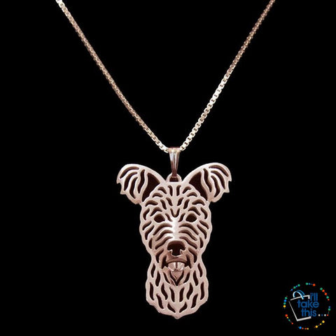 Image of Pumi Pendant in Silver, Gold or Rose Gold plating with BONUS Link Chain Necklace - I'LL TAKE THIS