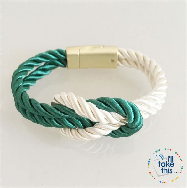 Nautical Braided Nylon Rope Bracelet with Magnet Clasp - Uni-Sex - I'LL TAKE THIS
