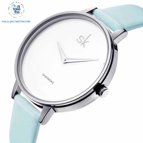Image of Minimalist Women's Round Wrist Watch in Gold or Silver - I'LL TAKE THIS