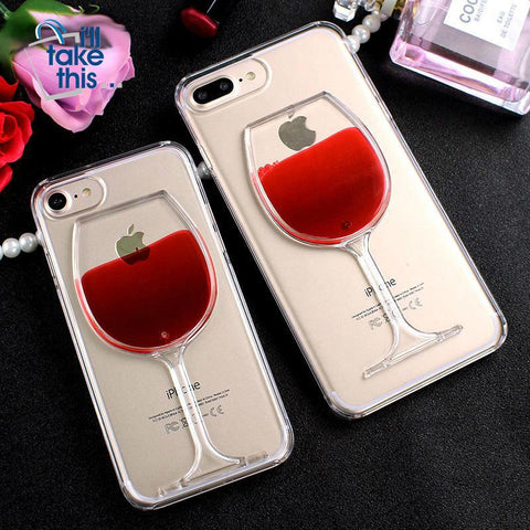 Red Wine Glass for ANY iPhone or Samsung Smartphone - iPhone 11 thru Samsung S20 +Note Phones