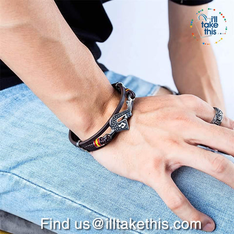 Image of Stainless Steel Guitar, Saxophone or Treble Clef Bracelets/Rope Bangle - Suits all!
