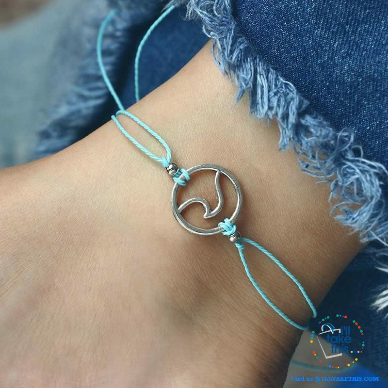 Shabby Chic Wave Bracelet/Anklets for Women Girl - 4 Color Rope options - I'LL TAKE THIS
