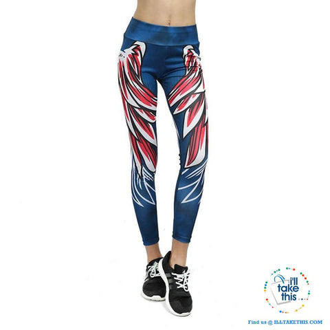 Image of Sheer Angel Wing 3D Printed Women's Leggings/Work Out Pants - 4 Colored Options - I'LL TAKE THIS