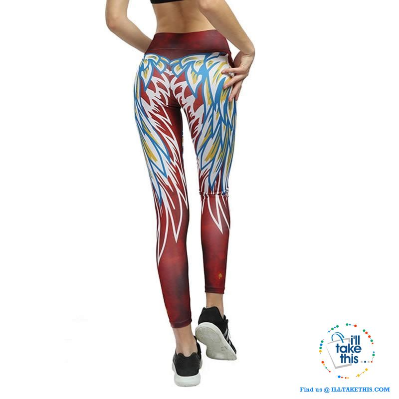 Sheer Angel Wing 3D Printed Women's Leggings/Work Out Pants - 4 Colored Options - I'LL TAKE THIS