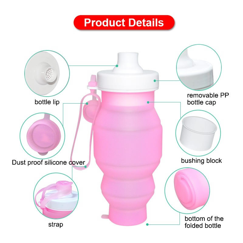 Collapsible Silicone Water Bottle 520ml / 17Oz - I'LL TAKE THIS