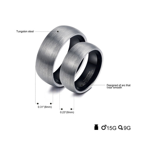 Image of Hand-crafted Wedding, Engagement, Couples Rings in Tungsten Steel - Rose Gold or Black Color 😊 - I'LL TAKE THIS