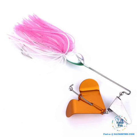 Image of Single Prop Clacker Spinnerbait IDEAL Swisher Buzzbait suit BASS - 4 pack Spinner Fishing Tackle Set - I'LL TAKE THIS