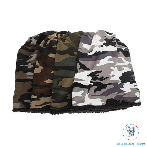 Image of Ladies and Gents Cool Camouflage themed Beanie, great look 4 colors options ideal his and hers pair - I'LL TAKE THIS