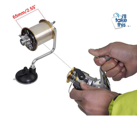 Image of Portable Aluminum Fishing Line Winder Reel line Spooling System - I'LL TAKE THIS