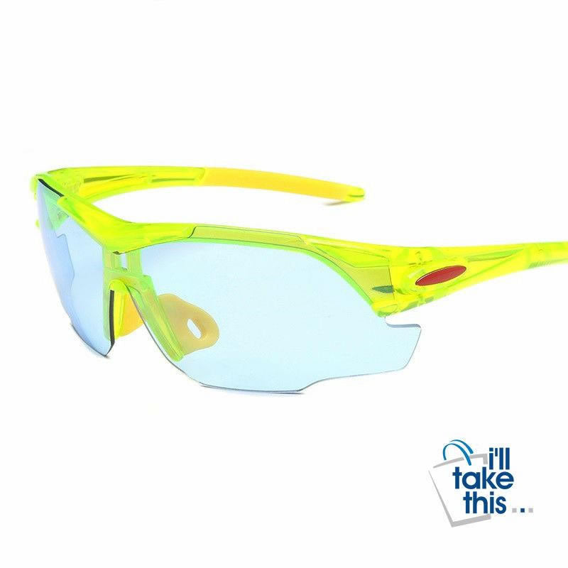 Sports UV400 protective Sunglasses for Bicycle, Skiing, Jogging, Fishing or just as driving glasses - I'LL TAKE THIS