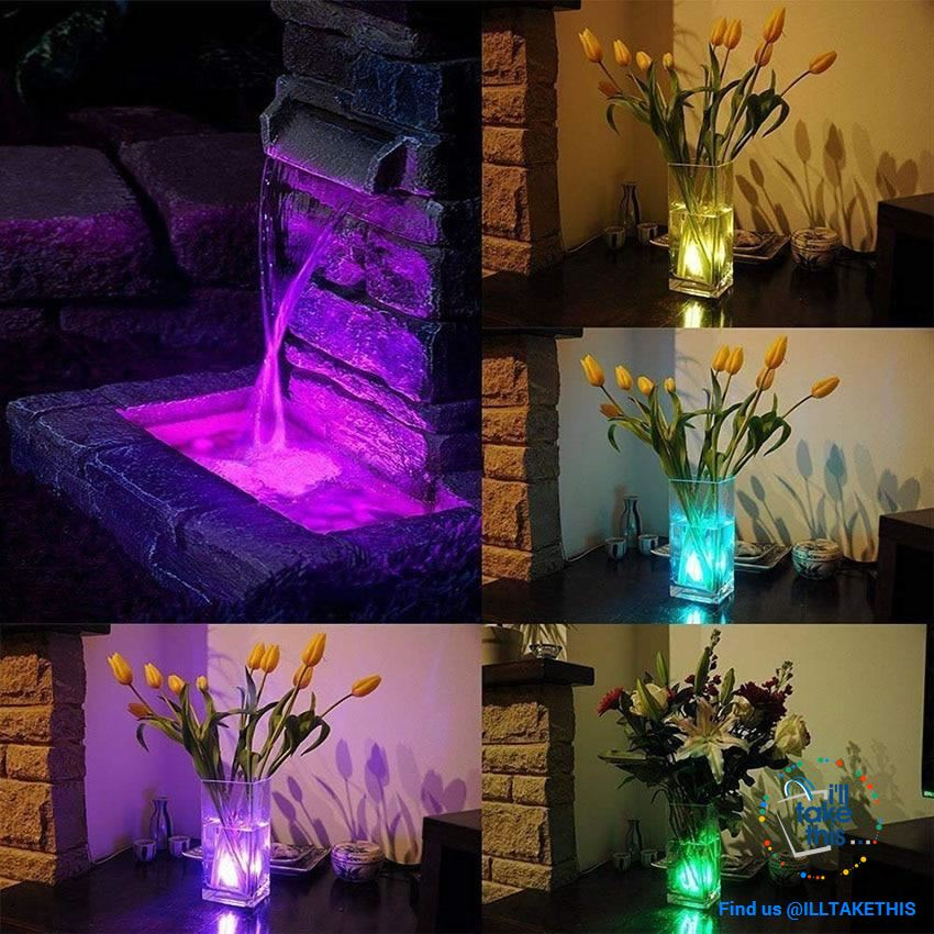 Built-in Super bright LED Tea Lights - Waterproof RGB Submersible LED Light - I'LL TAKE THIS