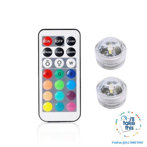 Image of Built-in Super bright LED Tea Lights - Waterproof RGB Submersible LED Light - I'LL TAKE THIS