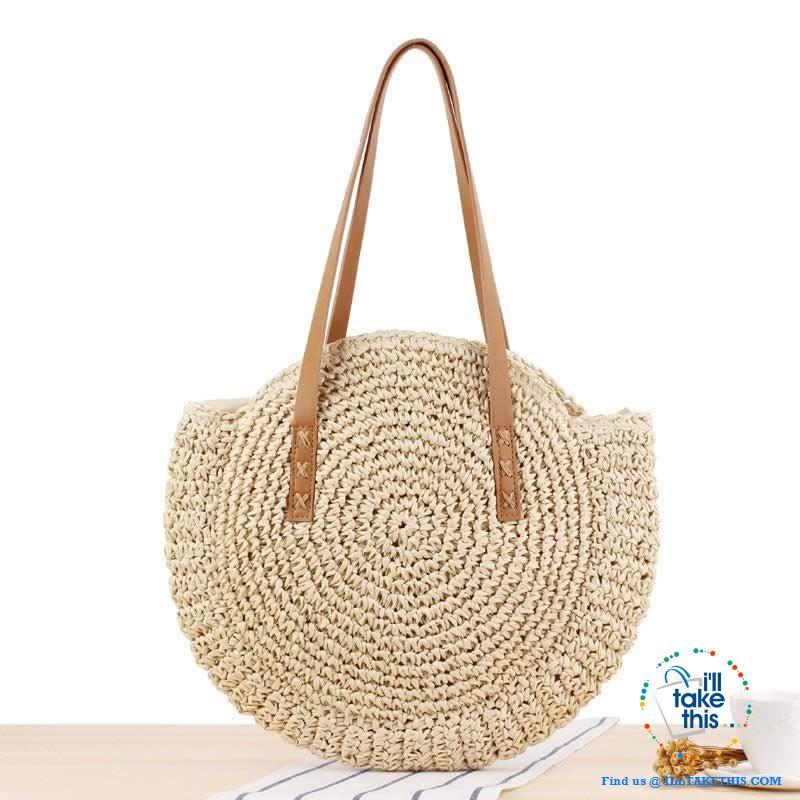 Summer Breeze Handmade round Bohemian inspired Straw handbags - 2 Colors - I'LL TAKE THIS