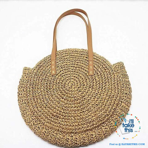 Image of Summer Breeze Handmade round Bohemian inspired Straw handbags - 2 Colors - I'LL TAKE THIS