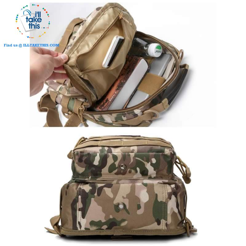 Tactical Crossbody/Shoulder Backpack Ideal for Camping, Hiking, Fishing or School - I'LL TAKE THIS