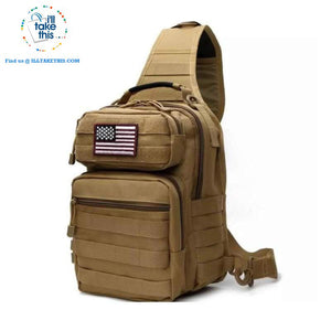 Tactical Crossbody/Shoulder Backpack Ideal for Camping, Hiking, Fishing or School