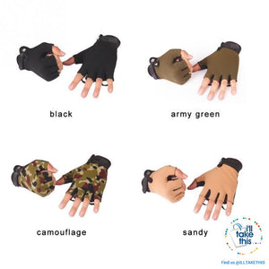 Finger-less Microfiber - Multi use Gloves for Driving, Tactical, Exercise, Fitness Sports Training
