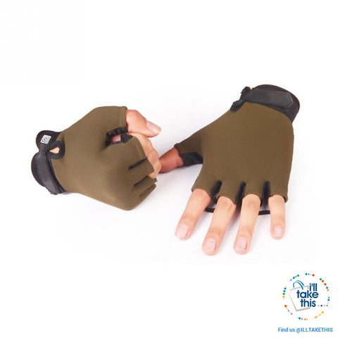 Image of Finger-less Microfiber - Multi use Gloves for Driving, Tactical, Exercise, Fitness Sports Training - I'LL TAKE THIS