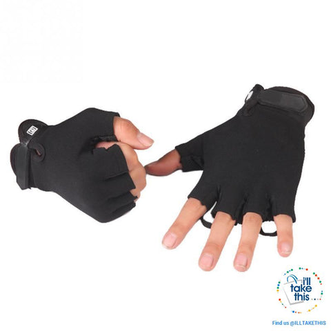 Finger-less Microfiber - Multi use Gloves for Driving, Tactical, Exercise, Fitness Sports Training - I'LL TAKE THIS