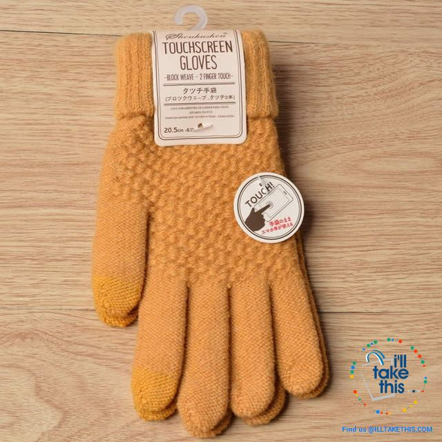 Touchscreen Gloves  Warm Winter Stretch Knit Mittens Wool Full Finger - I'LL TAKE THIS