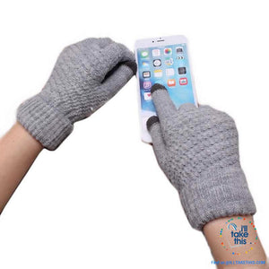 Touchscreen Gloves  Warm Winter Stretch Knit Mittens Wool Full Finger