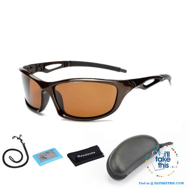 Unisex Polarized Sunglasses Suits Fishing, Camping, Hiking, Night Driving or Cycling - I'LL TAKE THIS