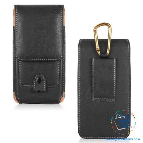 Image of Universal iPhone/Android Phone Case, Magnet lock with Card Holder - 3 Sizes, 2 Color Vegan Leather - I'LL TAKE THIS