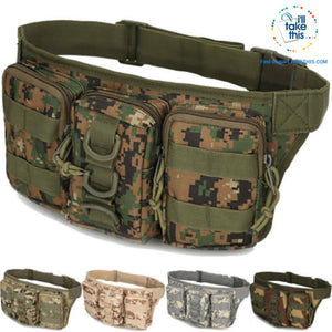 Tactical Waist Pack - Bum Bag 5 Tactical colors - I'LL TAKE THIS